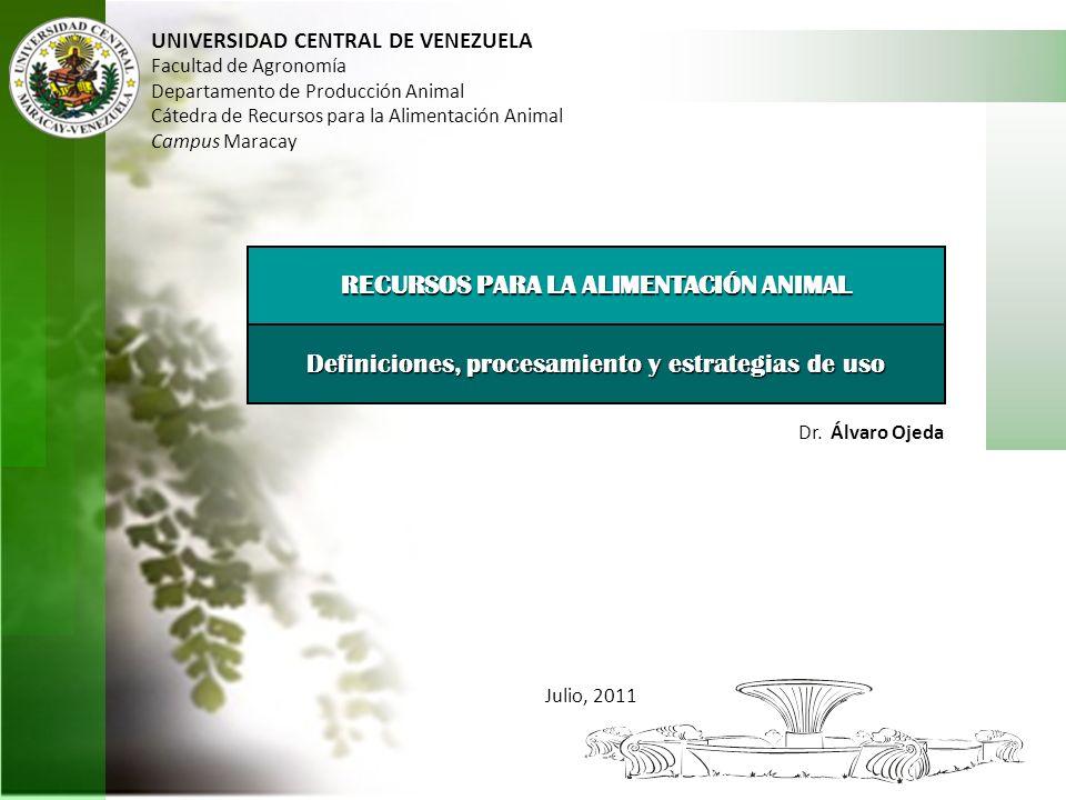 RECURSOS PARA LA ALIMENTACIÓN ANIMAL
