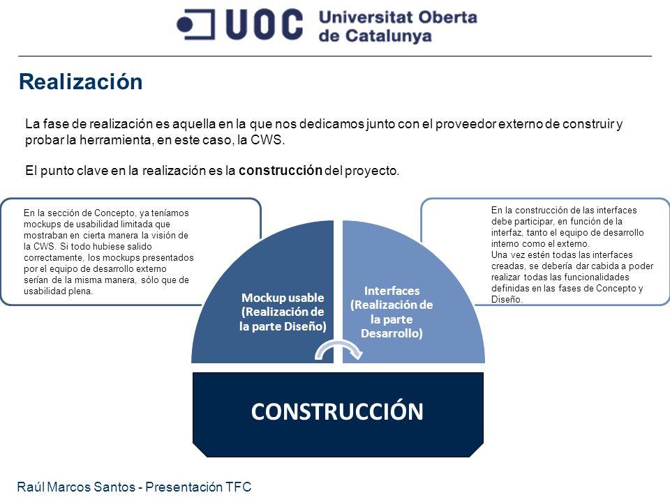 CONSTRUCCIÓN Realización