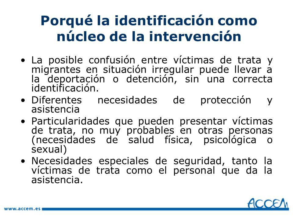 Porqué la identificación como núcleo de la intervención