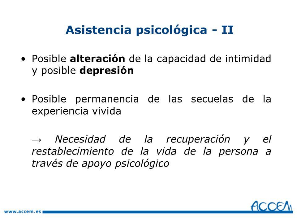Asistencia psicológica - II