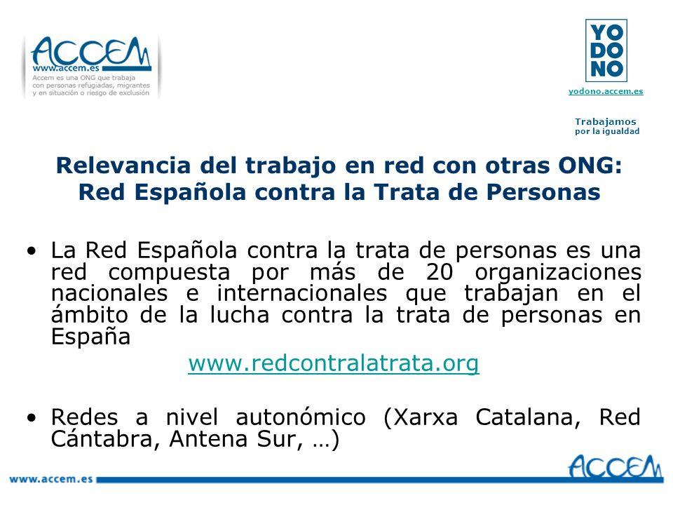 Relevancia del trabajo en red con otras ONG: Red Española contra la Trata de Personas