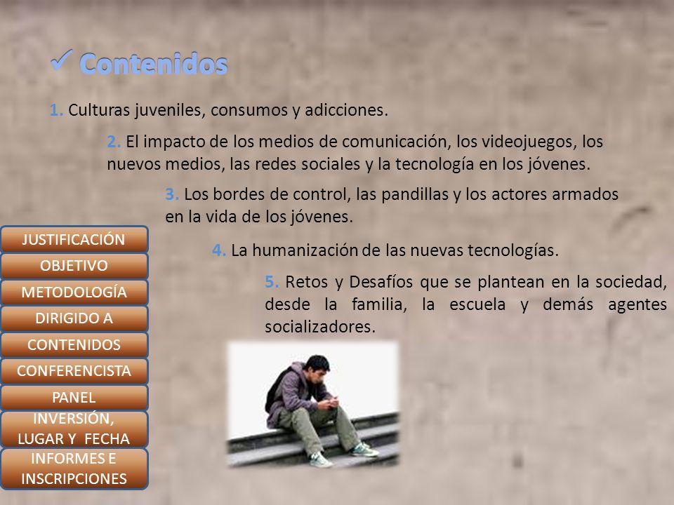 Contenidos 1. Culturas juveniles, consumos y adicciones.