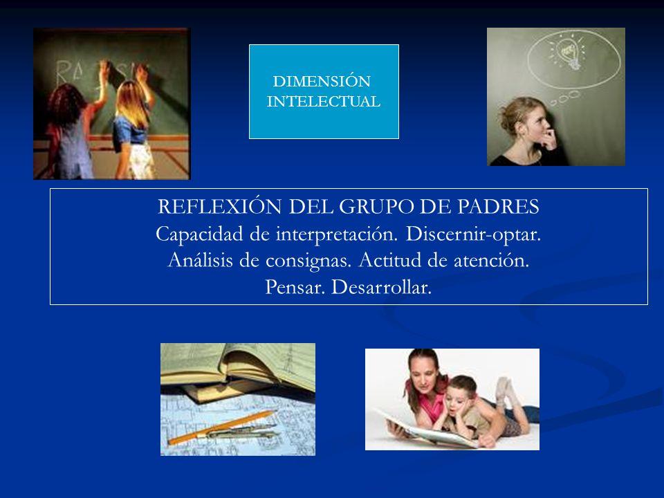 REFLEXIÓN DEL GRUPO DE PADRES