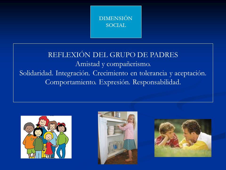 REFLEXIÓN DEL GRUPO DE PADRES Amistad y compañerismo.