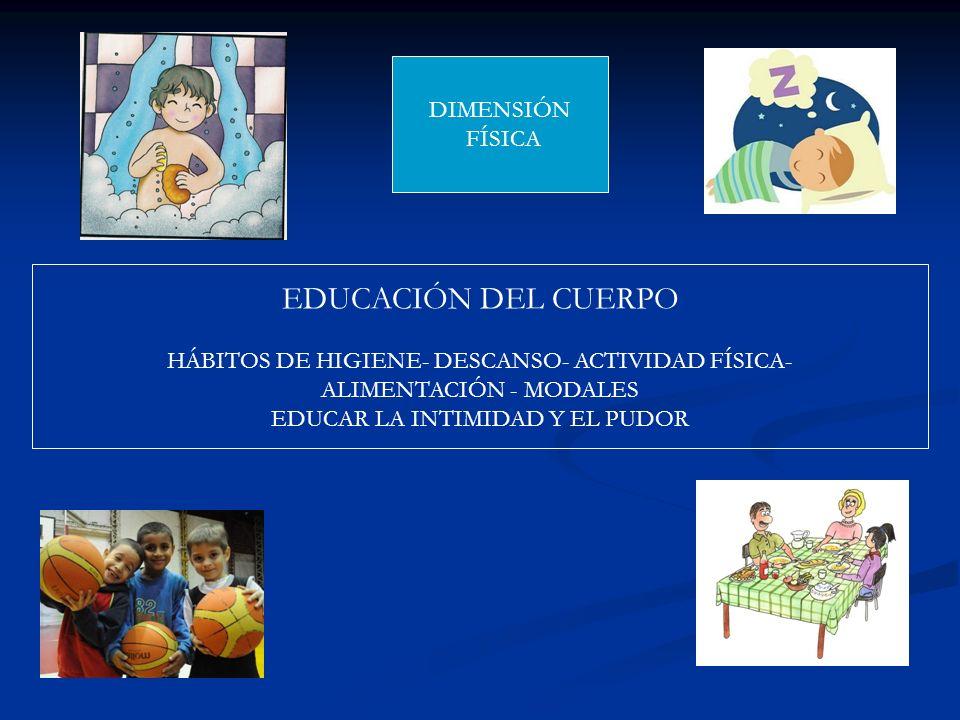 EDUCACIÓN DEL CUERPO DIMENSIÓN FÍSICA