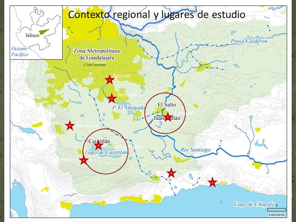 Contexto regional y lugares de estudio