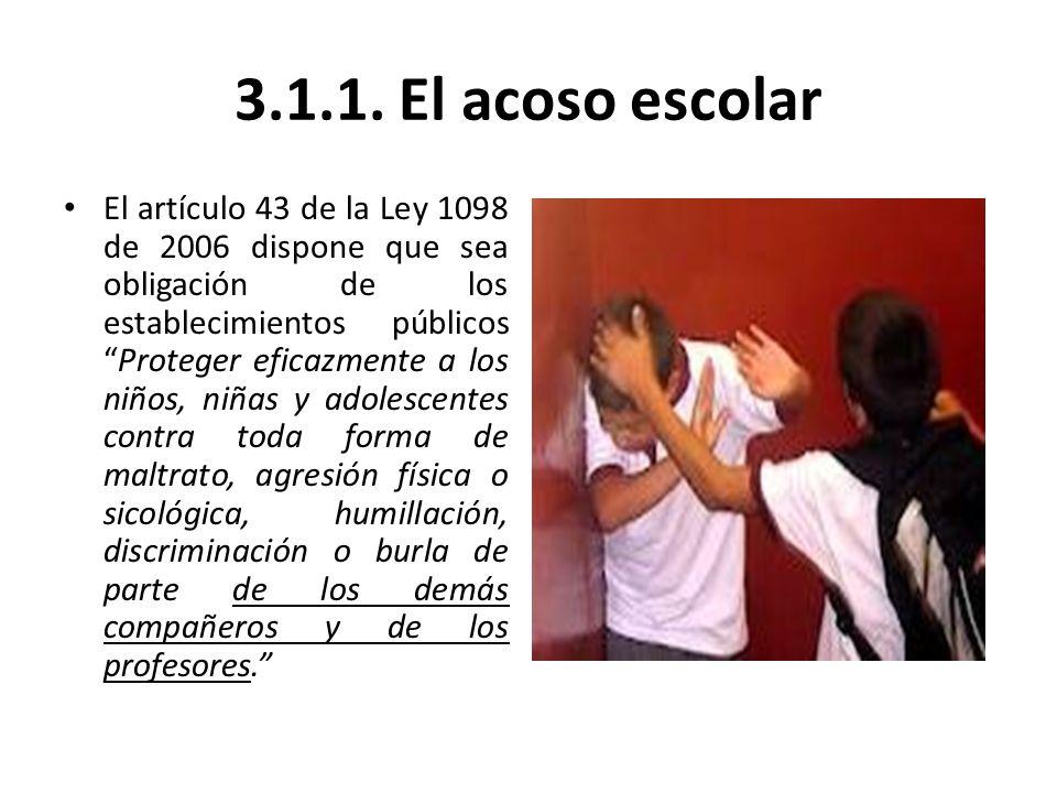 3.1.1. El acoso escolar