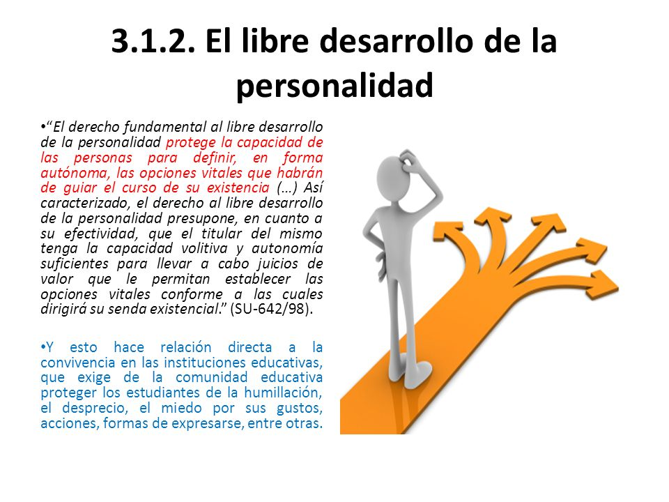 3.1.2. El libre desarrollo de la personalidad