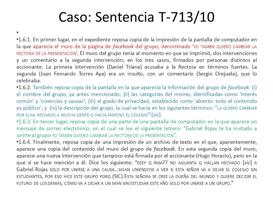 Caso: Sentencia T-713/10