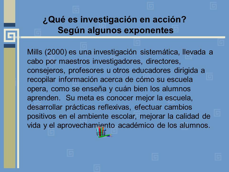 ¿Qué es investigación en acción Según algunos exponentes