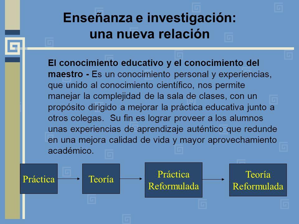 Enseñanza e investigación: una nueva relación
