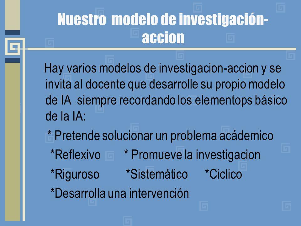Nuestro modelo de investigación-accion