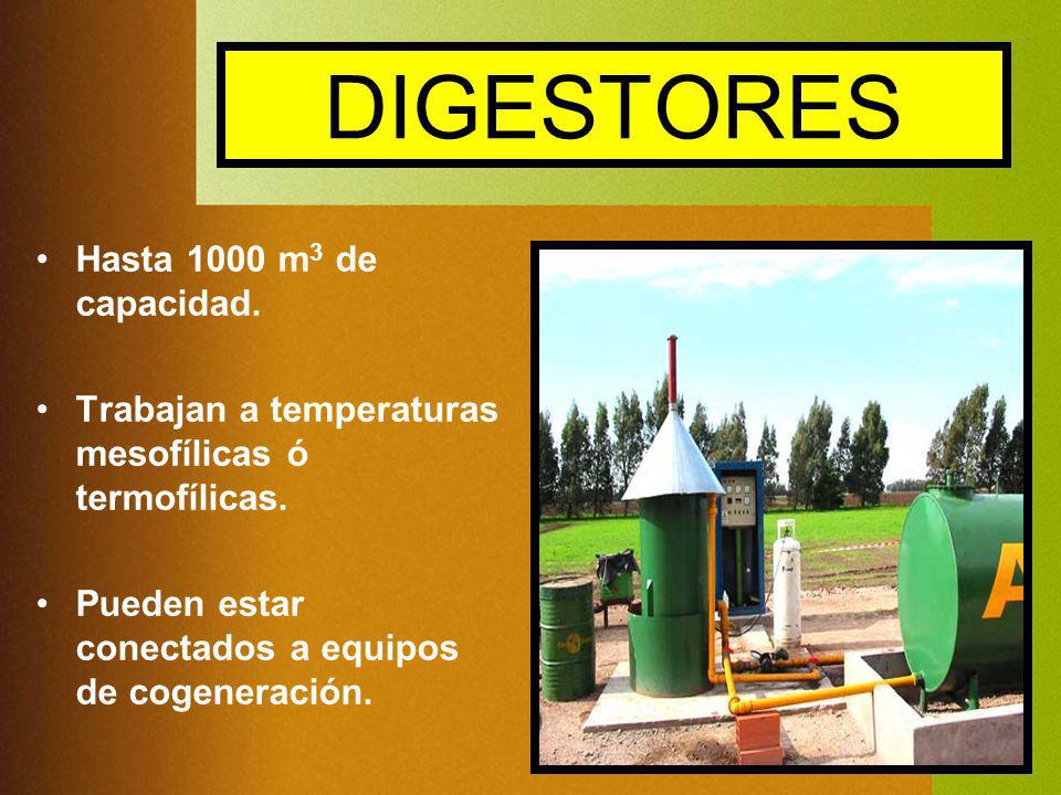 DIGESTORES Hasta 1000 m3 de capacidad.