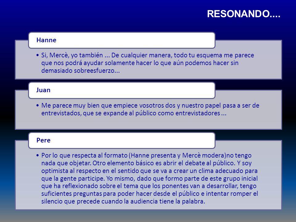 RESONANDO.... Hanne Juan Pere