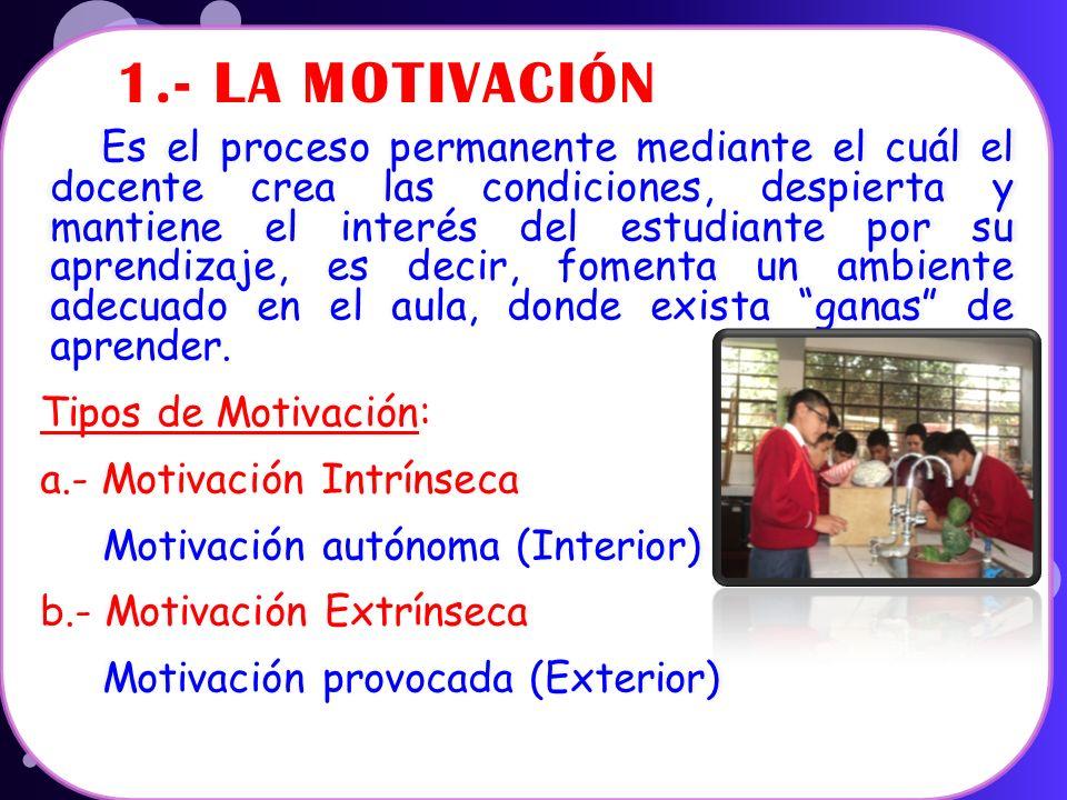 1.- LA MOTIVACIÓN