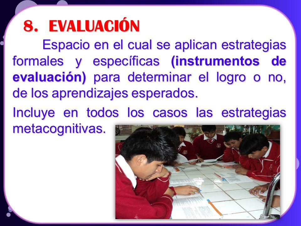 8. EVALUACIÓN