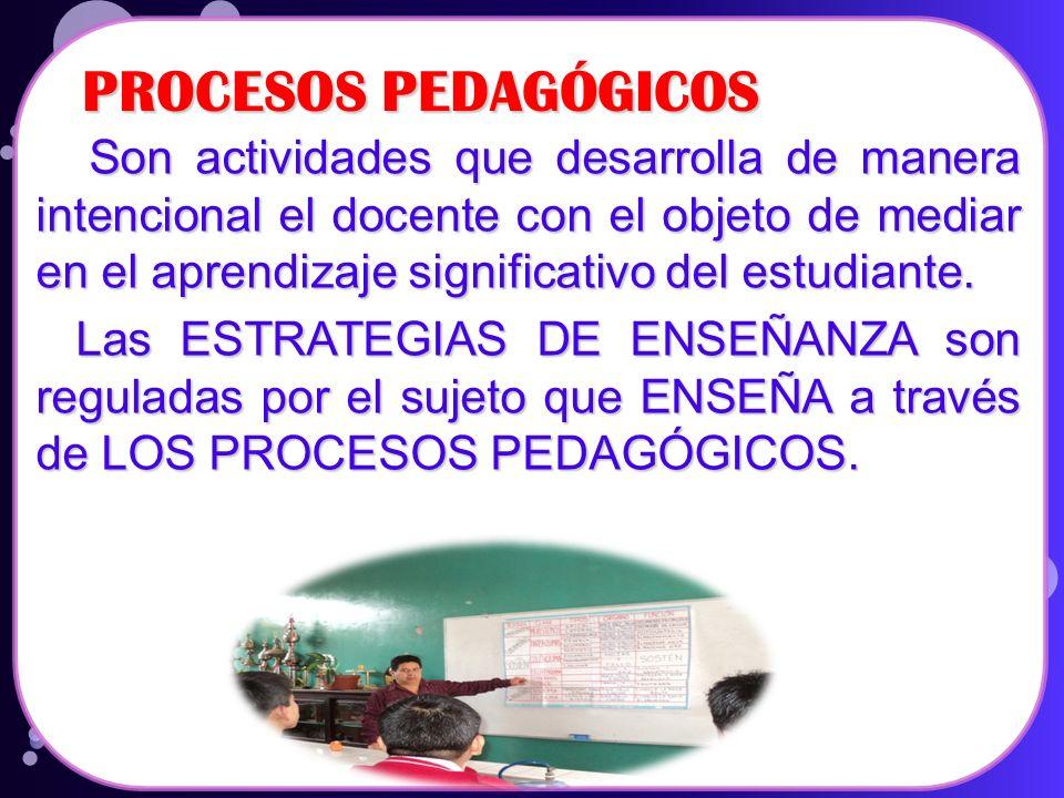 PROCESOS PEDAGÓGICOS