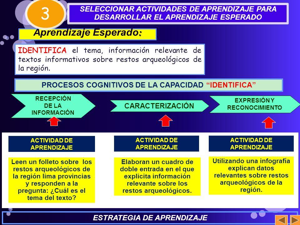 3 Aprendizaje Esperado: