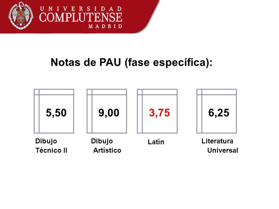 Notas de PAU (fase específica):