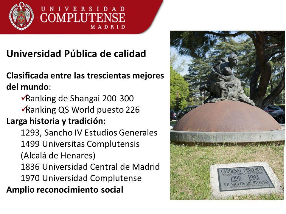 Universidad Pública de calidad