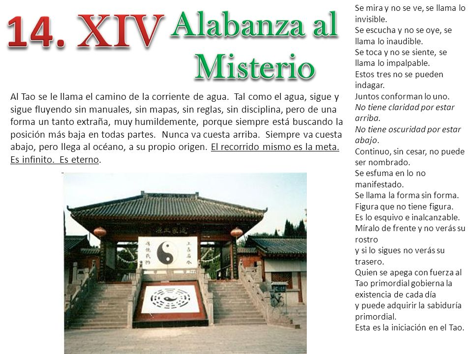 14. XIV Alabanza al Misterio