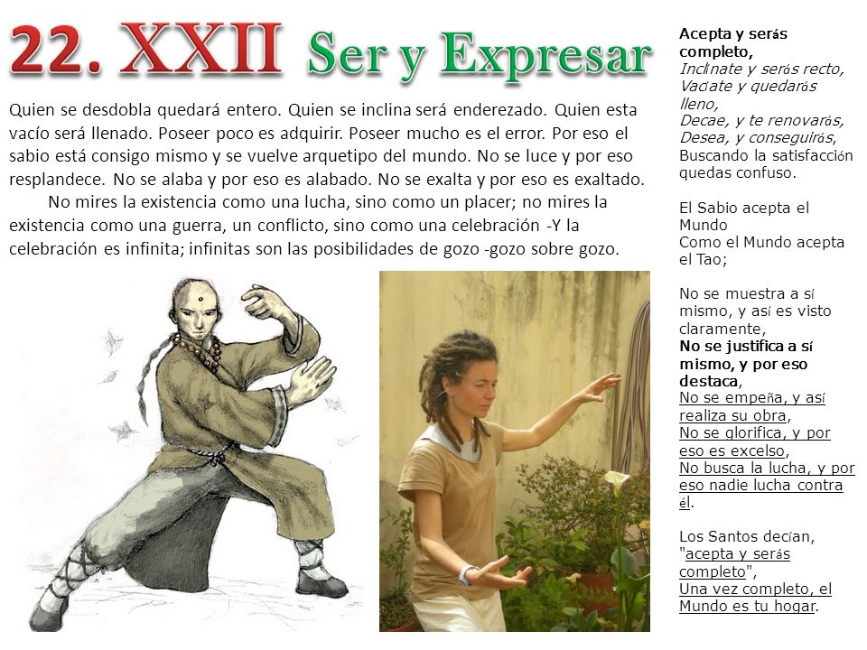 22. XXII Ser y Expresar.