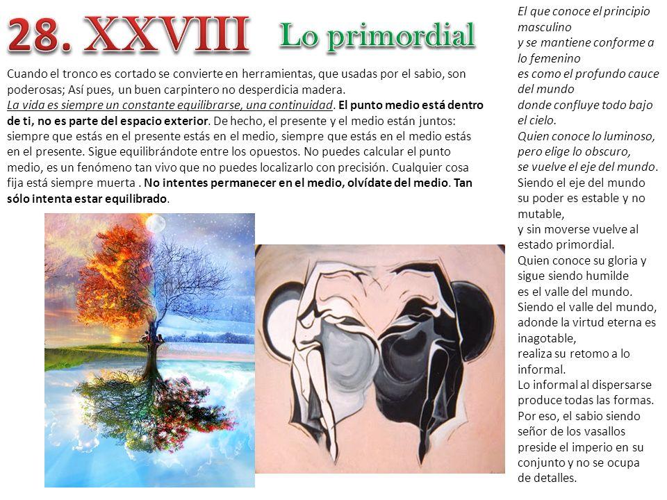 28. XXVIII Lo primordial El que conoce el principio masculino