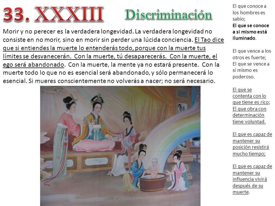 33. XXXIII Discriminación