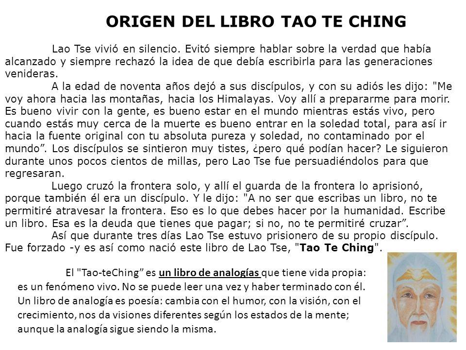 ORIGEN DEL LIBRO TAO TE CHING