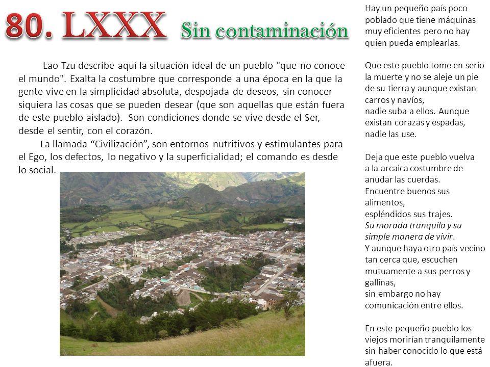 80. LXXX Sin contaminación