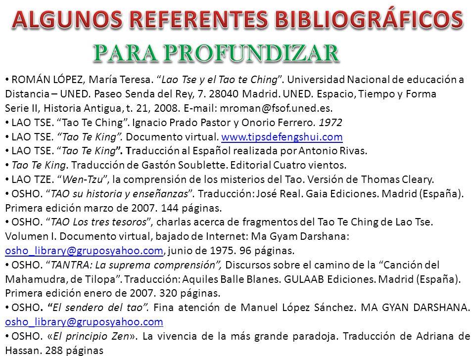 ALGUNOS REFERENTES BIBLIOGRÁFICOS
