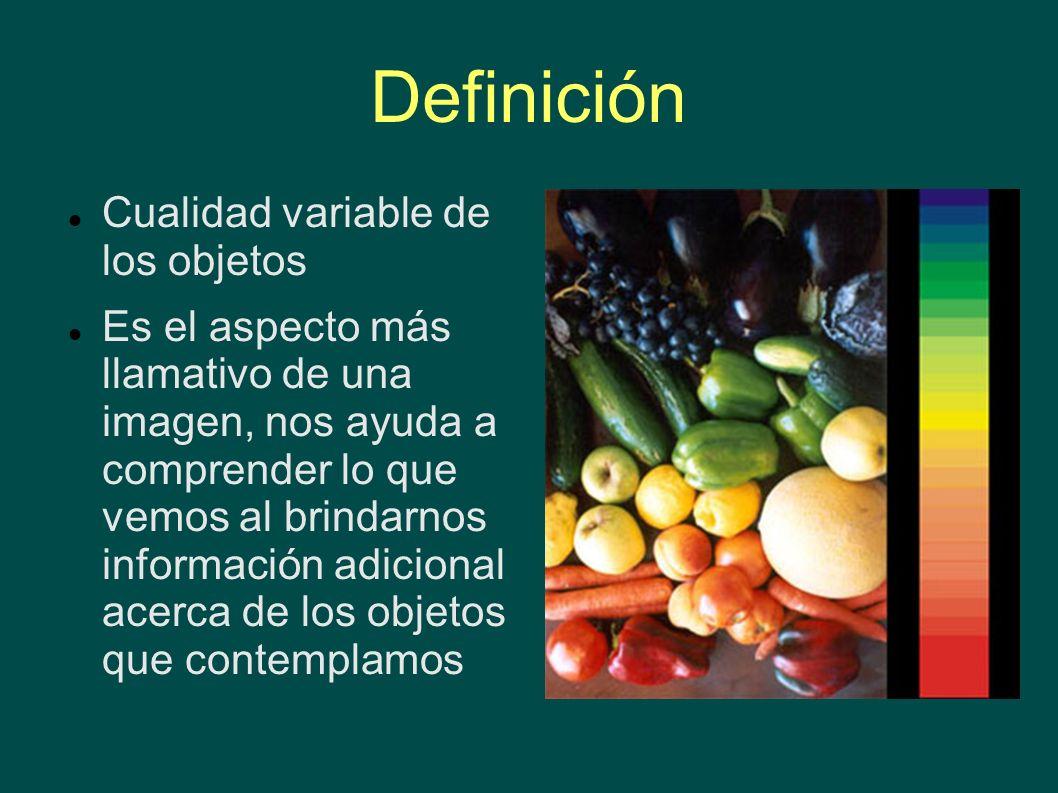 Definición Cualidad variable de los objetos