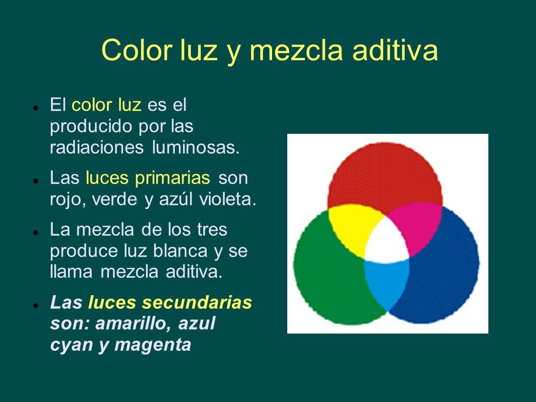 Color luz y mezcla aditiva