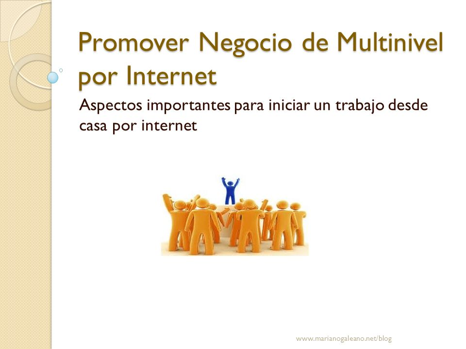 Promover Negocio de Multinivel por Internet