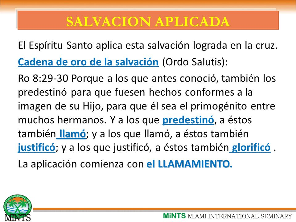 SALVACION APLICADA