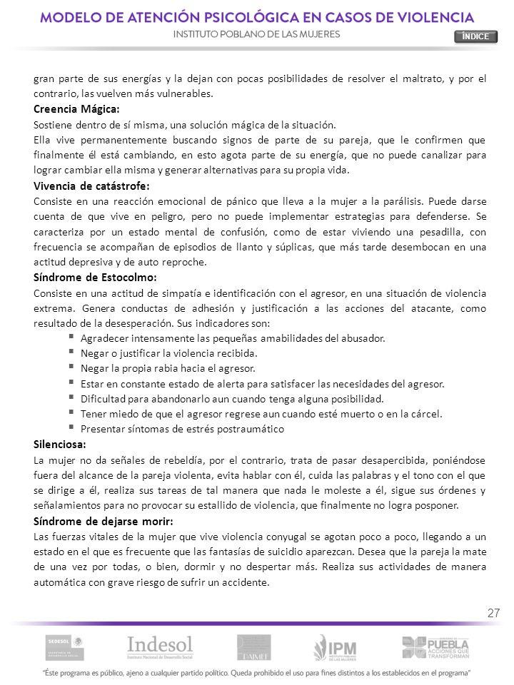 Vivencia de catástrofe: