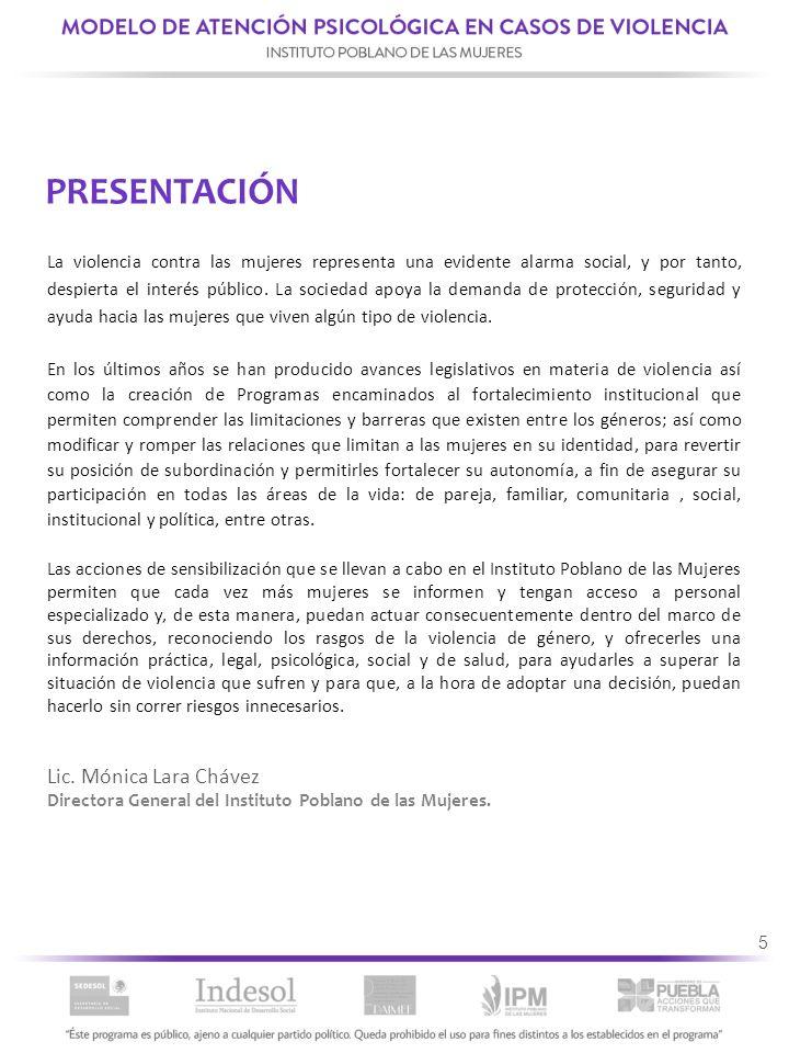 PRESENTACIÓN Lic. Mónica Lara Chávez