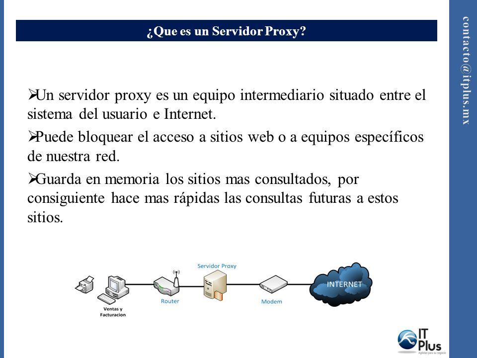 ¿Que es un Servidor Proxy