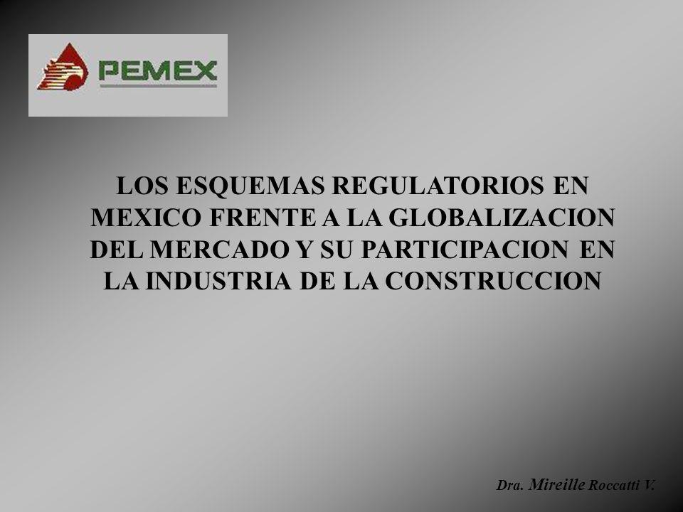 LOS ESQUEMAS REGULATORIOS EN MEXICO FRENTE A LA GLOBALIZACION DEL MERCADO Y SU PARTICIPACION EN LA INDUSTRIA DE LA CONSTRUCCION