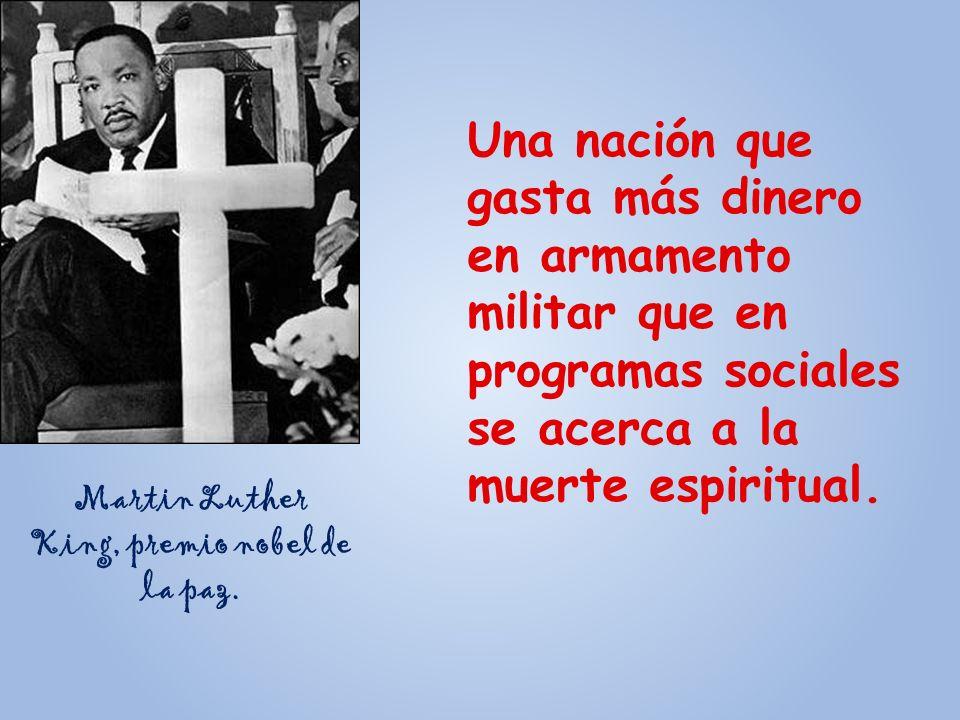 Martin Luther King, premio nobel de la paz.