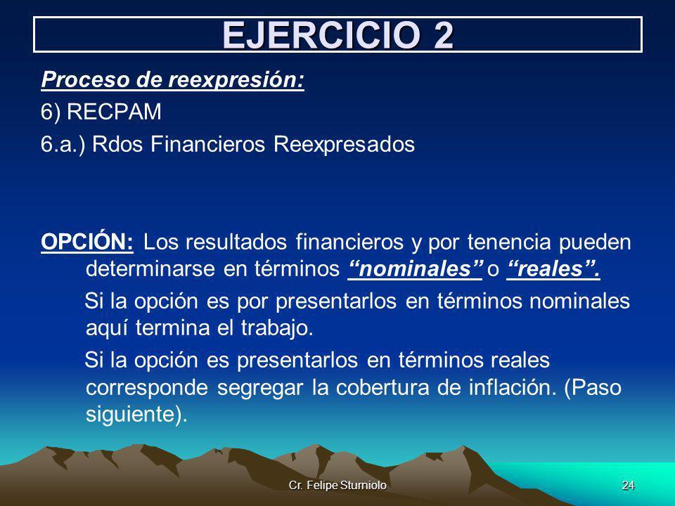 EJERCICIO 2 Proceso de reexpresión: 6) RECPAM
