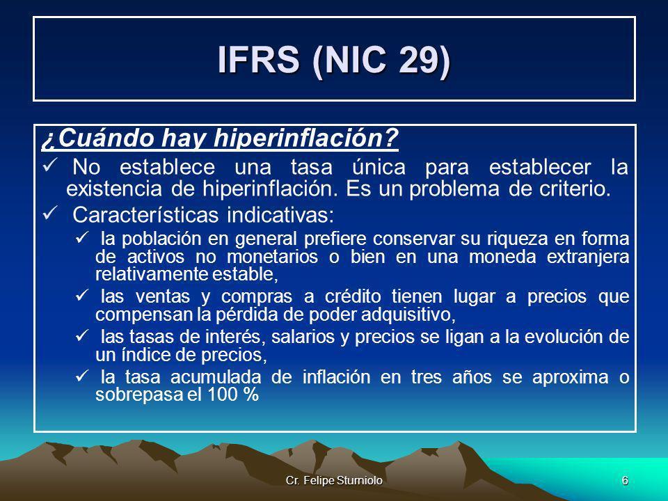 IFRS (NIC 29) ¿Cuándo hay hiperinflación