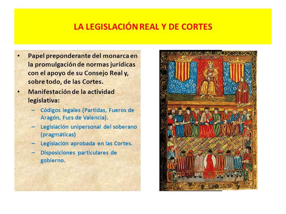 LA LEGISLACIÓN REAL Y DE CORTES