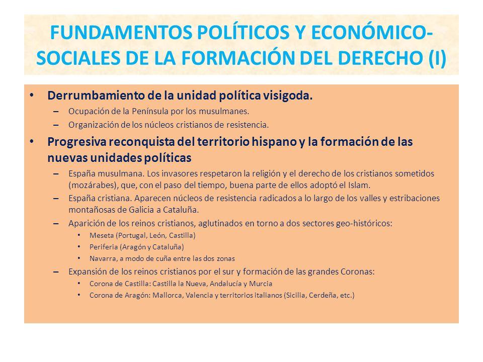FUNDAMENTOS POLÍTICOS Y ECONÓMICO-SOCIALES DE LA FORMACIÓN DEL DERECHO (I)