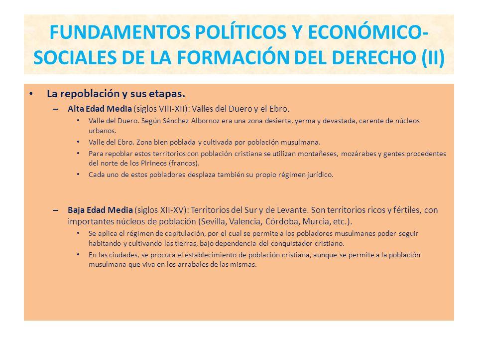 FUNDAMENTOS POLÍTICOS Y ECONÓMICO-SOCIALES DE LA FORMACIÓN DEL DERECHO (II)
