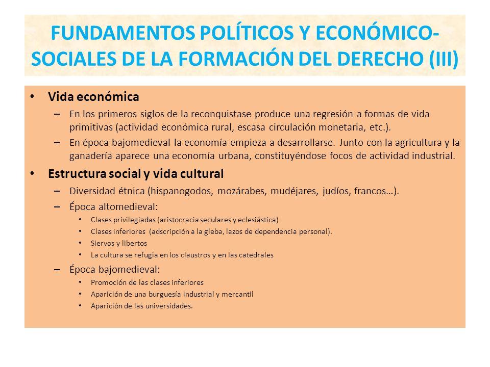 FUNDAMENTOS POLÍTICOS Y ECONÓMICO-SOCIALES DE LA FORMACIÓN DEL DERECHO (III)