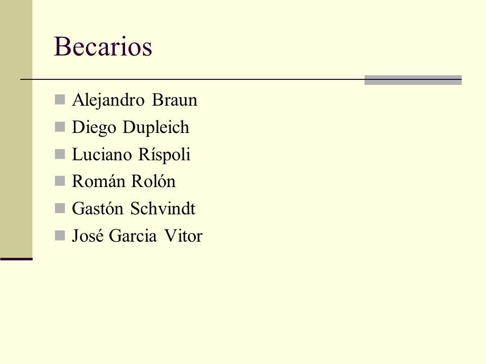 Becarios Alejandro Braun Diego Dupleich Luciano Ríspoli Román Rolón