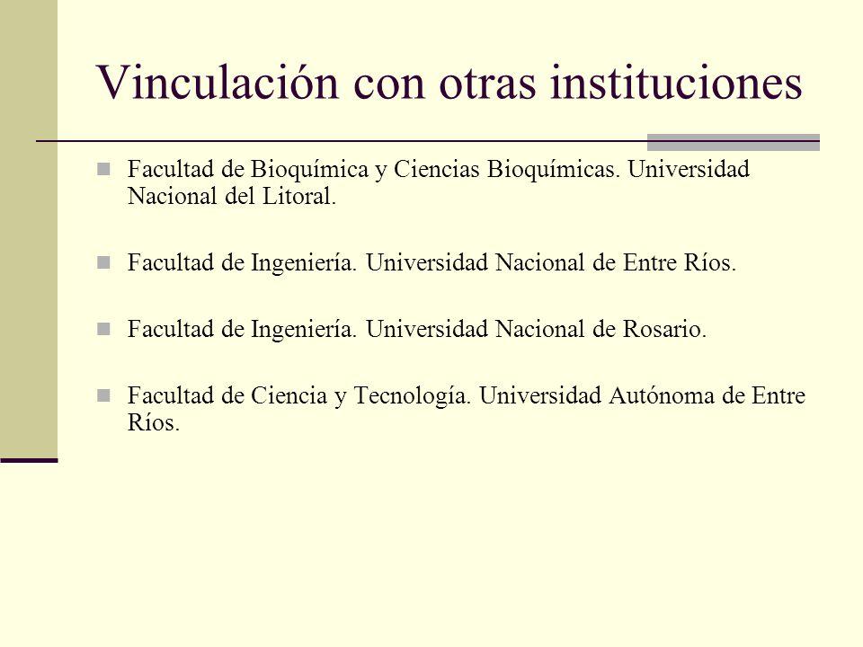 Vinculación con otras instituciones