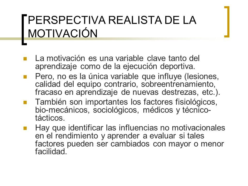 PERSPECTIVA REALISTA DE LA MOTIVACIÓN