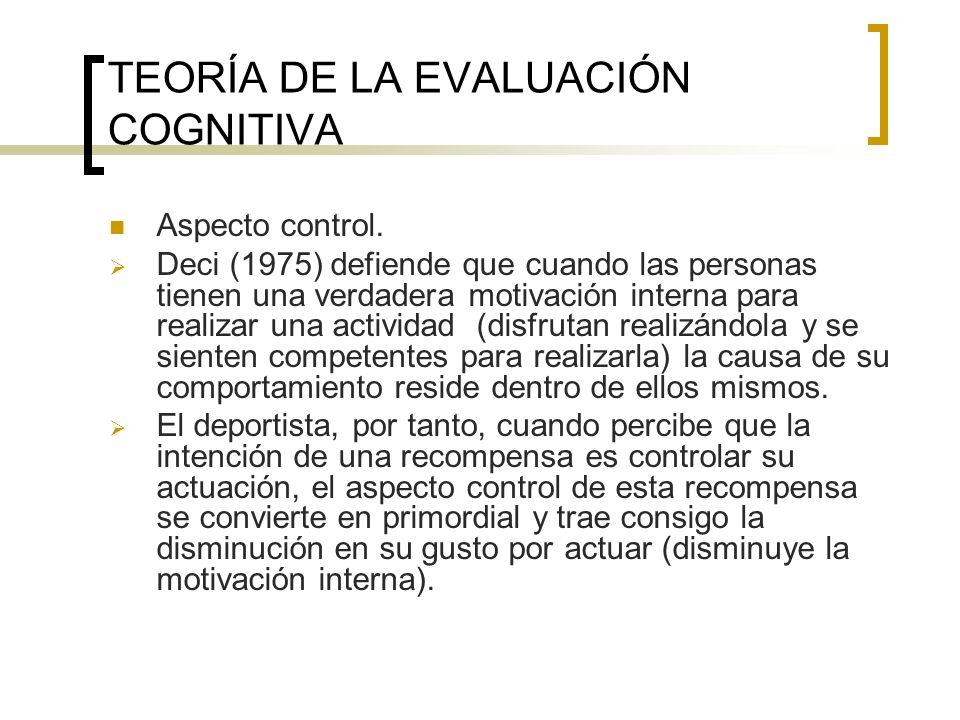 TEORÍA DE LA EVALUACIÓN COGNITIVA